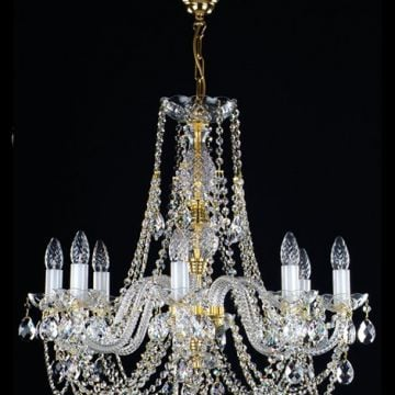Traditional medium chandelier for high ceilings