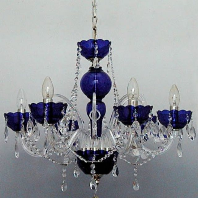 Traditional Silver Haematite Gate Post Lantern Or Driveway: Deep Blue Crystal Chandelier