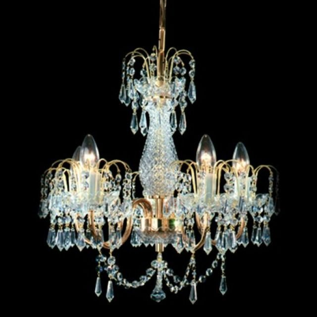 Small bohemian crystal chandelier