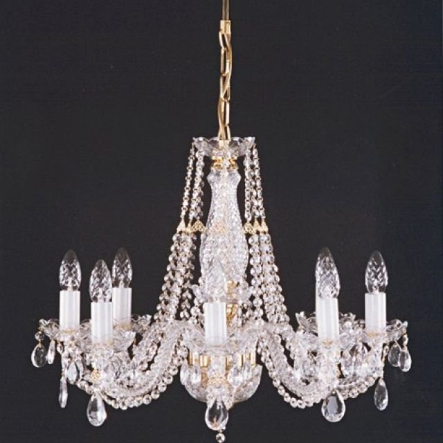 Crystal chandelier with rope twist arms