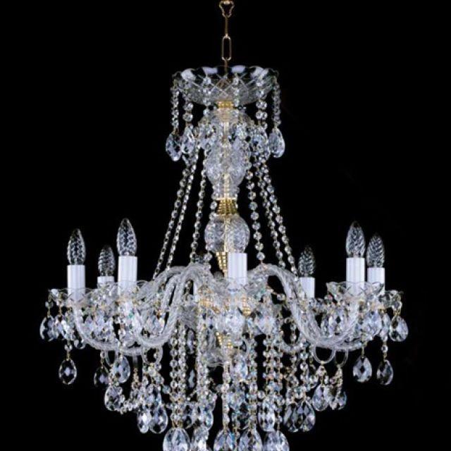 Medium lead crystal chandelier