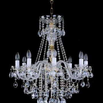 Medium lead crystal chandelier