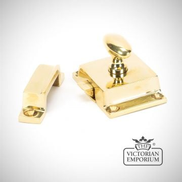 Cabinet Latch in Polished Brass