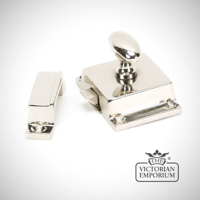 Cabinet Latch in Polished Nickel