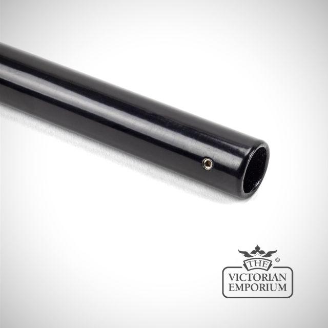 Black curtain pole - choice of sizes