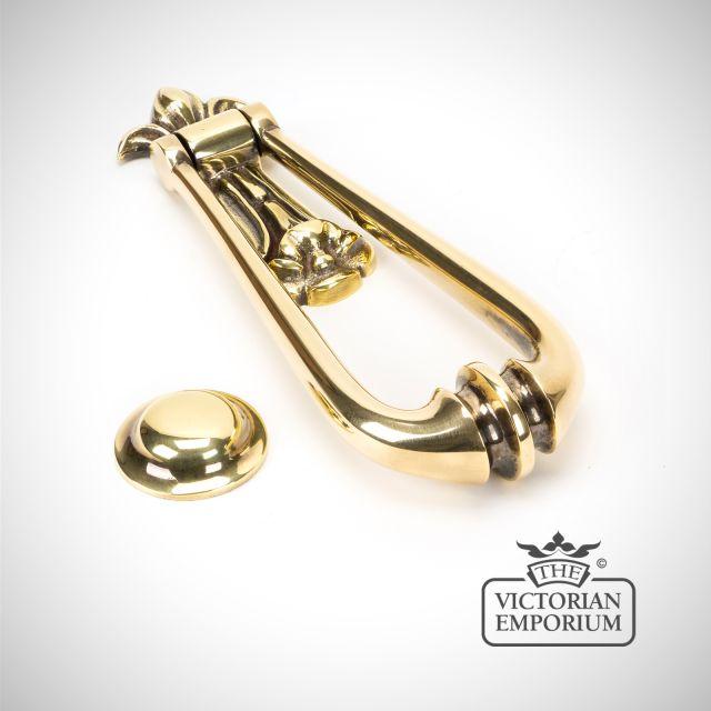 Aged Brass Loop Door Knocker