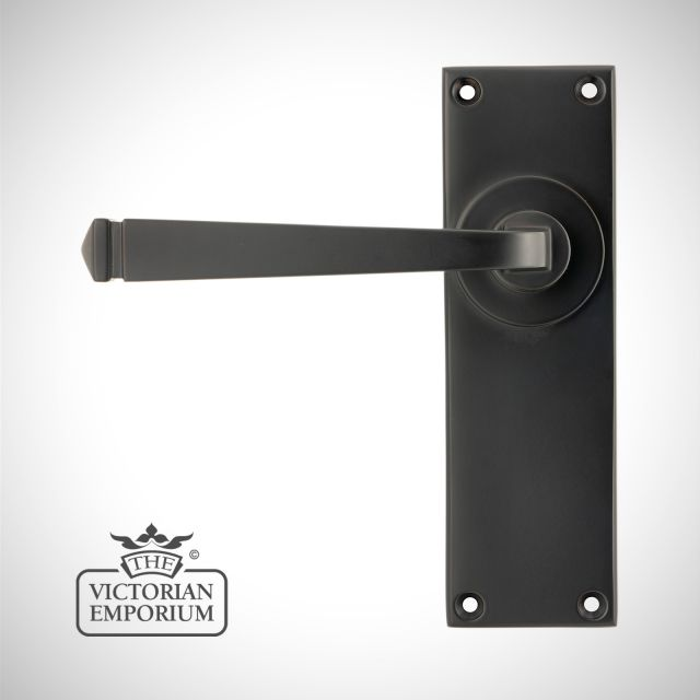 Aged Bronze Avon Lever Set - lock or latch