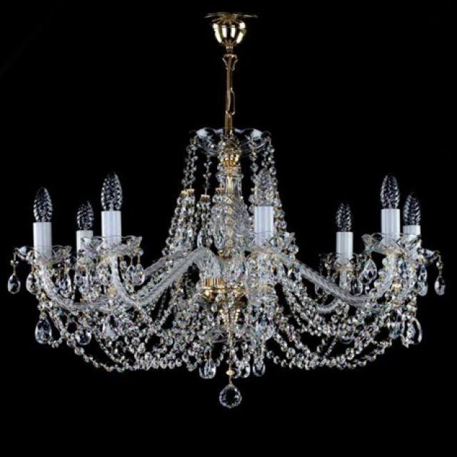 Chandelier with crystal chains