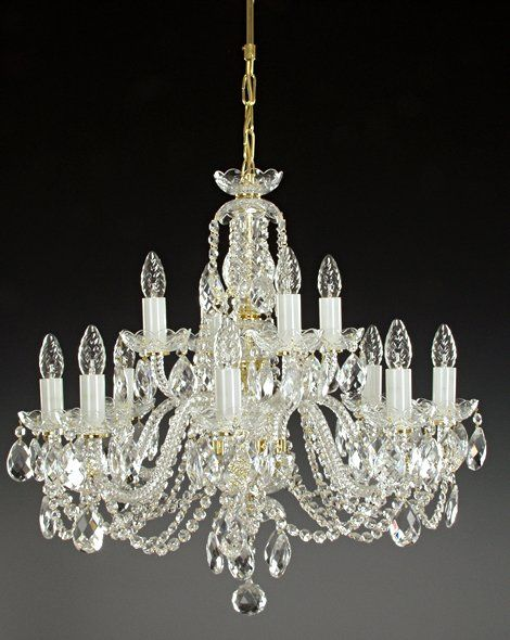 Two tier lead crystal chandelier | Ceiling chandeliers