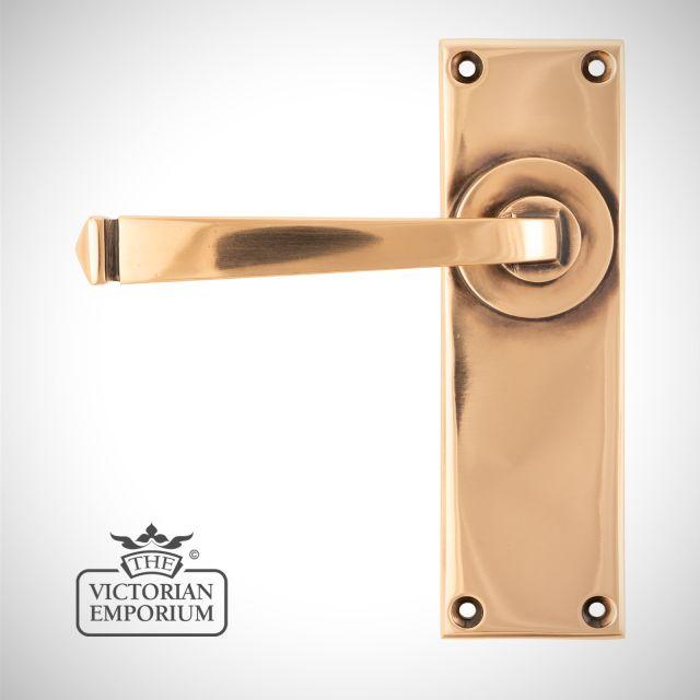 Polished Bronze Avon Lever Lock or Latch Handle Set