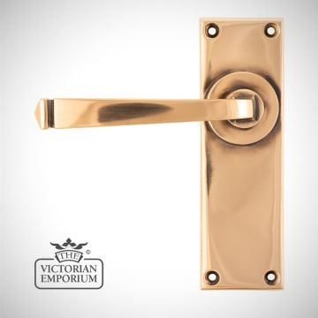 Polished Bronze Avon Lever Lock or Latch Handle Set