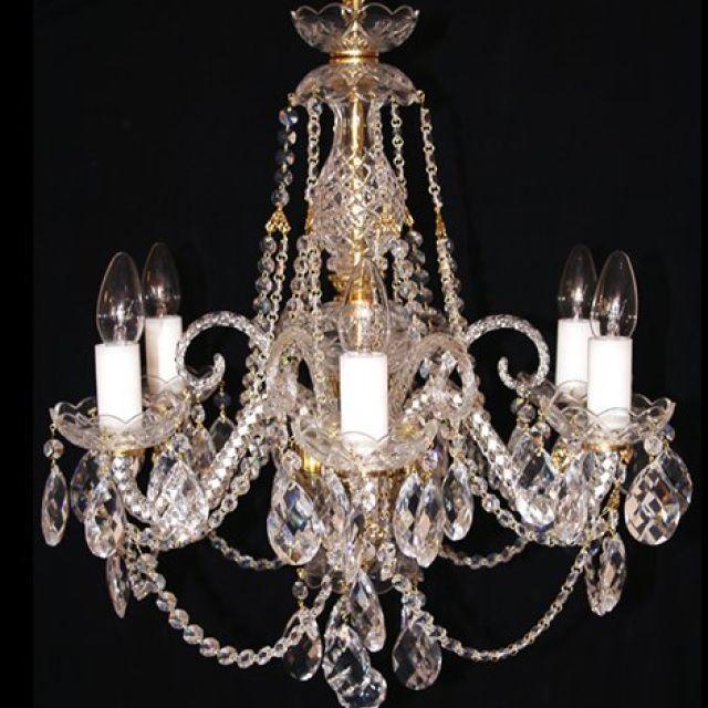 Bohemian lead crystal chandelier