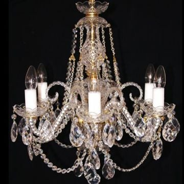 Bohemian lead crystal chandelier