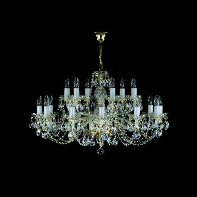 Chandelier with twisted glass arms