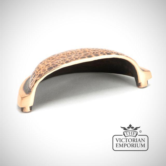 Polished Bronze Hammered Regency Concealed Drawer Pull