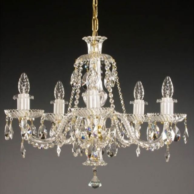 Small crystal chain chandelier