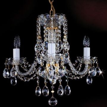 3 arm crystal chandelier