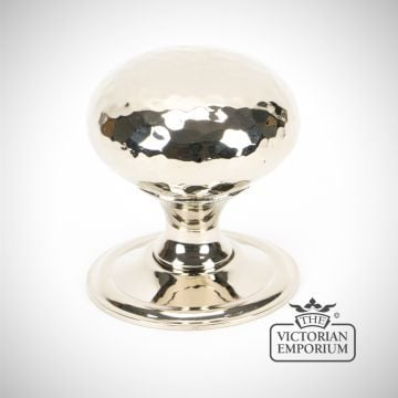 Polished Nickel Hammered Mushroom Cabinet Knob