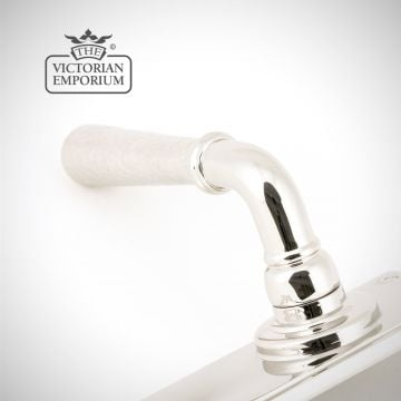 Polished Nickel Hammered Newberry Lever Bathroom Set