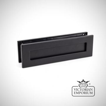Matt Black Traditional Letterbox