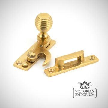 Polished Brass Beehive Window Sash Hook Fastener