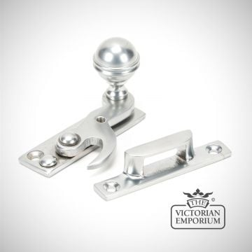 Satin Chrome Beehive Window Sash Hook Fastener