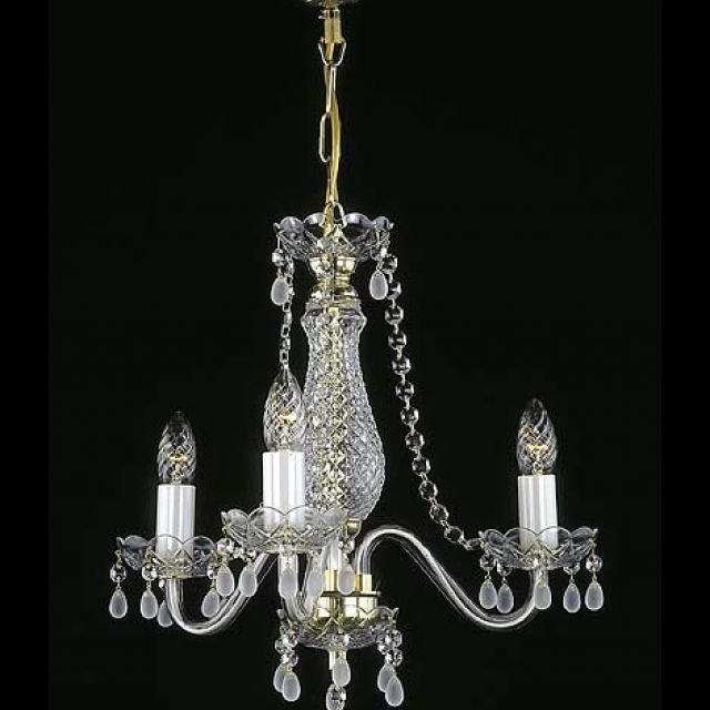 Small chandelier with smoked glass droplets