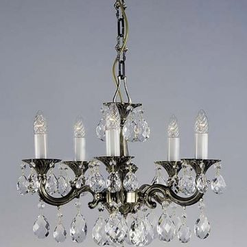 Small cast antique chandelier