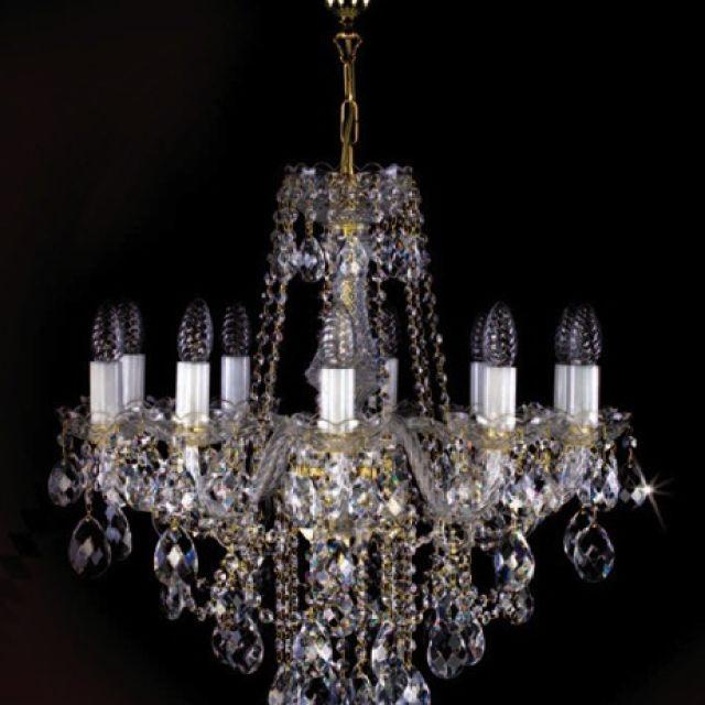 Medium bohemian crystal chandelier