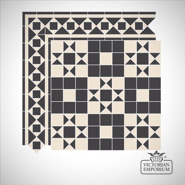 Dover Victorian Mosaic Floor Tiles - Centre Pattern