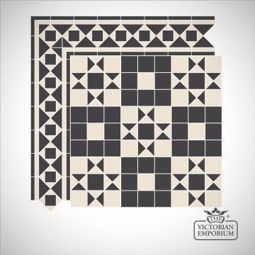 Dover Victorian Mosaic Floor Tiles - Centre Pattern