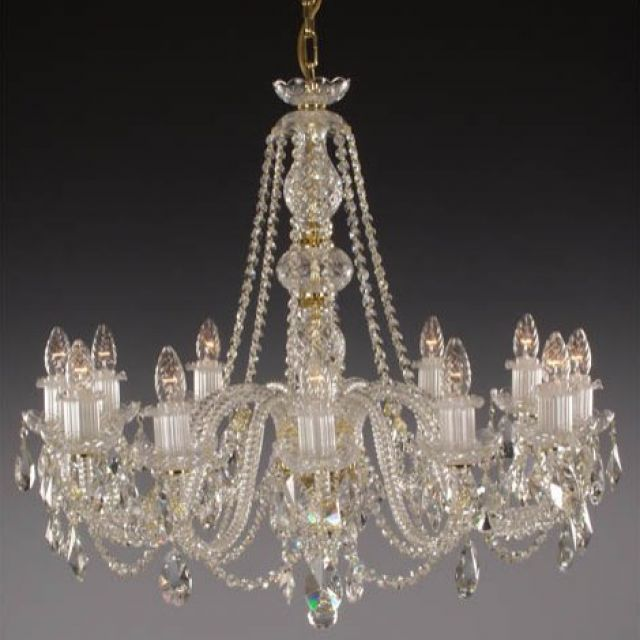 Medium Lead crystal chandelier 2