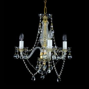 Small elegant lead crystal chandelier