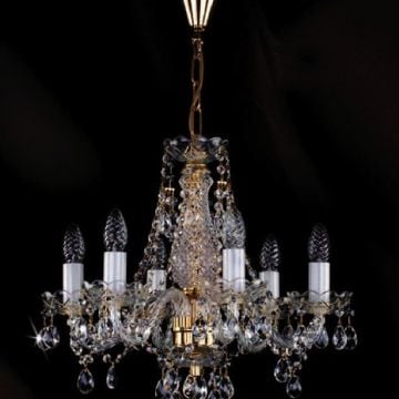Small chandelier with pear shaped drops