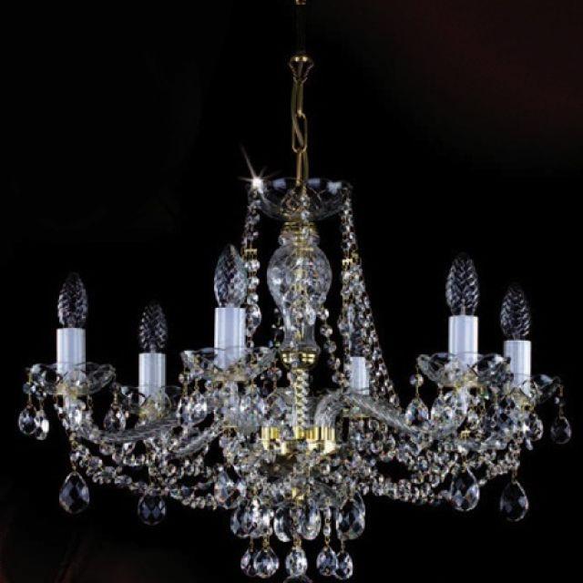 Medium chandelier with rope twists