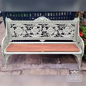 Victorian Cast Horse Chestnut Design Bench - 3 or 4 seater
