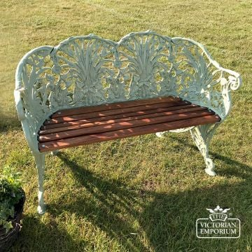 Victorian Cast Wheatsheaf Design Bench - 2 or 3 seater
