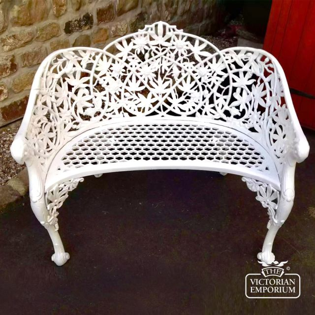 Victorian Cast Passion Flower Love Seat