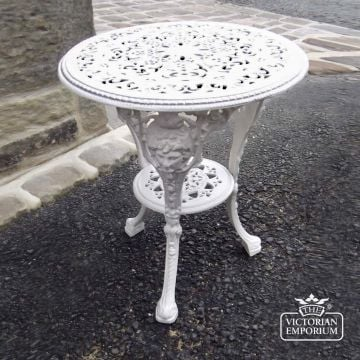 Victorian Cast Outdoor Table with Lady's Head Design
