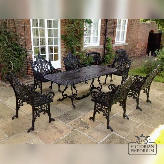 Victorian Cast Large Rectangular Outdoor Table- 5ft or 7ft long