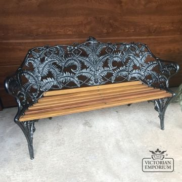 Victorian Cast Fern Leaf Design Bench - 2 or 3 seater