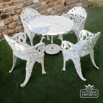 Victorian Cast Outdoor Floral Design Table