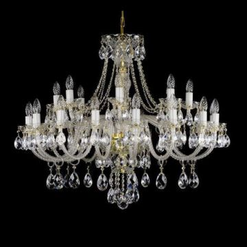 Traditional chandelier with rope twist glass arms