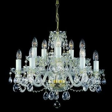 High ceiling bohemian crystal chandelier