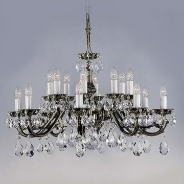Stunning cast metal chandelier