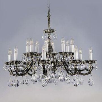 Stunning cast metal chandelier