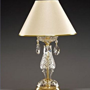 Lead crystal table lamp