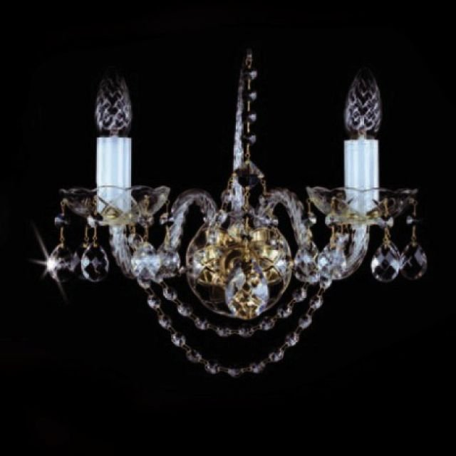 Bohemian crystal wall sconce
