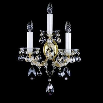 Ornate 3 arm wall sconce