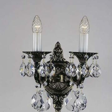 Stunning bohemian crystal wall sconce